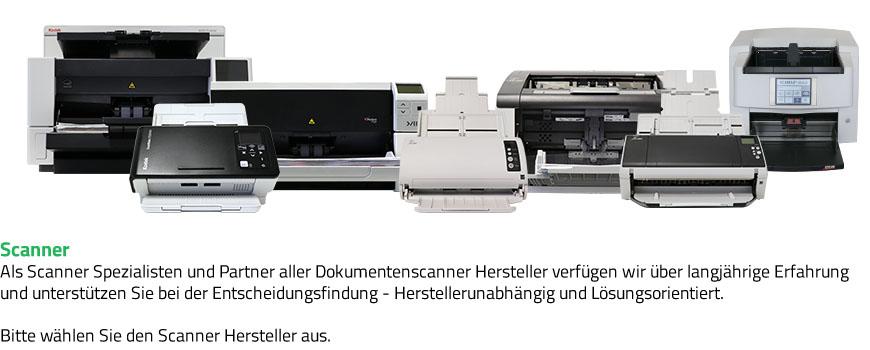 Scanner. Als Scanner Spezialisten und Partner aller Dokumentenscanner Hersteller verfügen wir über langjährige Erfahrung und unterstützen Sie bei der Entscheidungsfindung - Herstellerunabhängig und Lösungsorientiert.