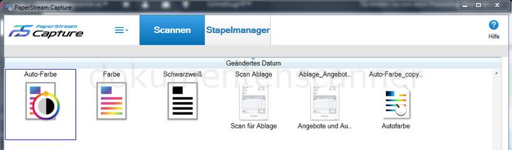Fujitsu PaperStream Profile