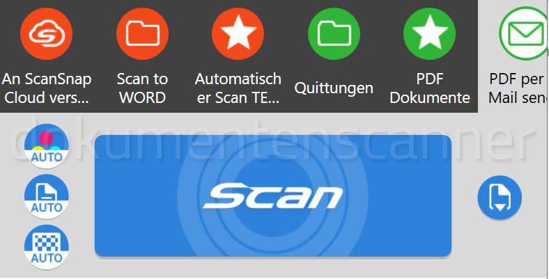 Fujitsu SanSnap iX1500 Touchdisplay