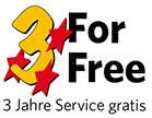 3 Jahre Service gratis