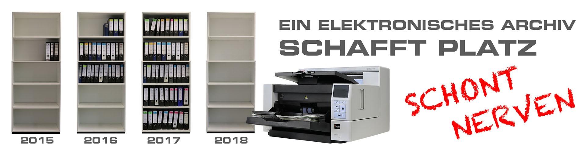 Einfache Archivierung mit Hilfe von Dokumentenscannern